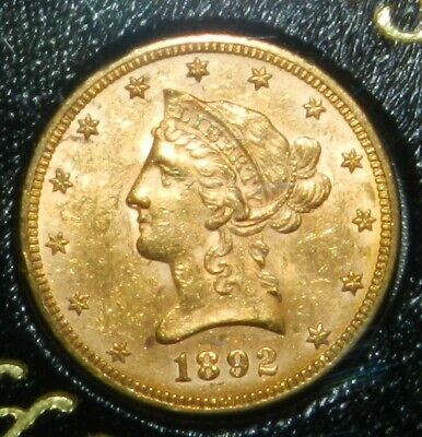 $1200 • Buy 1892 Liberty Head $10 US Gold UNCIRCULATED (Swiss Hoard Coin)