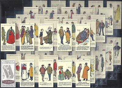 Smiths-full Set- Phil May Sketches (brown Back 50 Cards) - Exc+++ All Scanned • 244.99£