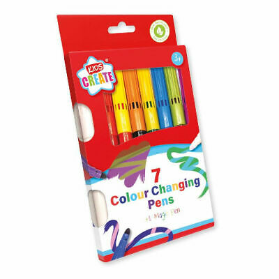 £2.39 • Buy 7 Pack Colour Changing Pens - Magic Pen Fun Kids Children Playtime Colouring