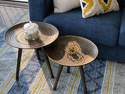 AU108 • Buy NEW 2 Side Tables, Coffee Table, Plant Stand, Bedsides, Living Room End Tables