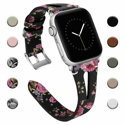 $ CDN5.21 • Buy For Apple Watch Slim Leather Strap IWatch Band 40/38MM Wristband Series 5 4 3 2