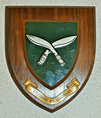 Brigade Of Ghurkas Regimental Mess Wall Plaque Shield • 30£