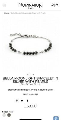 £20 • Buy Nomination Bella Moonlight Bracelet In Grey Silver With Pearls - Valentine Gift