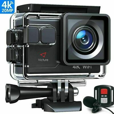 Victure AC900 4K Action Camera Touch Screen Wi-Fi 20MP Waterproof 30M Underwater • 52.99£