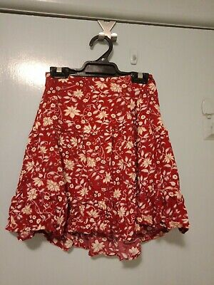 AU39 • Buy Tigerlily Red And White Mini Skirt In Size 6
