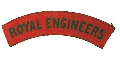 WW2 Royal Engineers PRINTED Cloth Shoulder Title Badge Flash Patch  • 19.26£