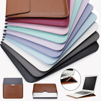 $14.30 • Buy Leather Laptop Sleeve Bag Pouch Case Cover For MacBook Air 11 13 Pro 15 Retina
