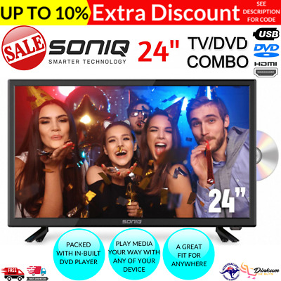 AU179.14 • Buy SONIQ TV/DVD Combo 24 Inch LED LCD 24  Television Built-In DVD Player NEW