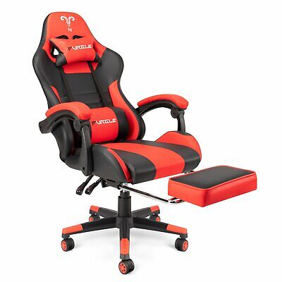 AU152.83 • Buy Gaming Chair W/Footrest Executive Office Computer Racer Recliner PU Leather Seat