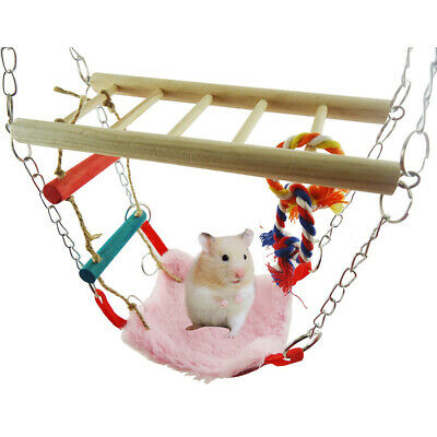 Hamster Toy Suspension Bridge Ladder Hammock Rope Toy Activity Centre -UKX • 9.26£