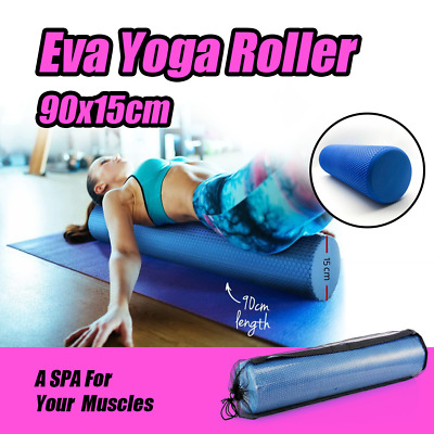 AU28.50 • Buy EVA 90x15cm PHYSIO FOAM AB ROLLER YOGA PILATES EXERCISE BACK HOME GYM MASSAGE
