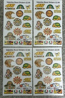 4 Sheets -VALENTINO ROSSI - Quality Waterproof Stickers  • 3.99£
