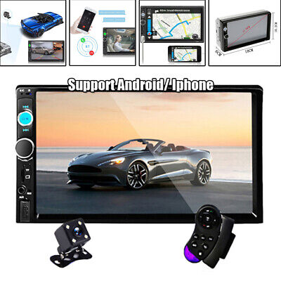 $86.91 • Buy 7  Double 2DIN Car MP5 Player Bluetooth Stereo Radio Camera For Android/ Iphone