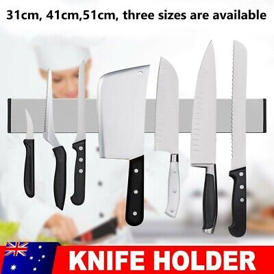 AU22.95 • Buy Self-Adhesive Magnetic Knife Storage Holder Chef Rack Strip Utensil 31/41/51cm
