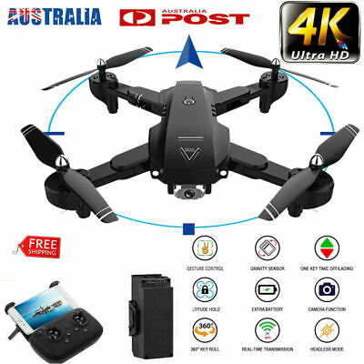 AU96.89 • Buy Drones X Pro 2.4G With HD 1080P 4K Camera GPS WIFI FPV Foldable Quadcopter 3D AU