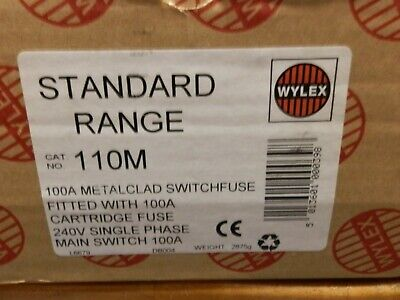 £90 • Buy Wylex 110m 100a Single Phase Metal Switch Fuse Pre Owned