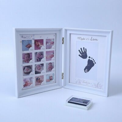£16.95 • Buy Baby My First Year Photo Frame Hand & Feet Casting Kit 12 Month Picture Display