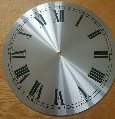 £14.95 • Buy NEW - 10 Inch Clock Dial Face - Silver Finish 254mm - Roman Numerals - DL28