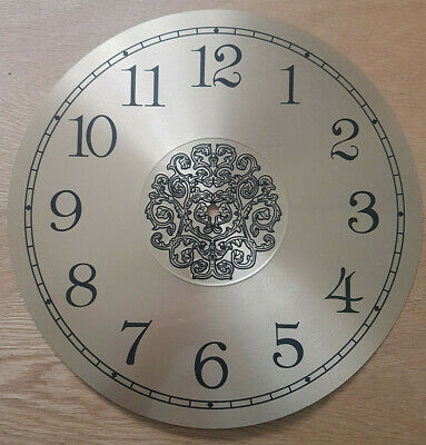 £12.95 • Buy NEW - 13.5 Inch Clock Dial Face - Gold/Brass Finish 340mm - Arabic Num - DL39