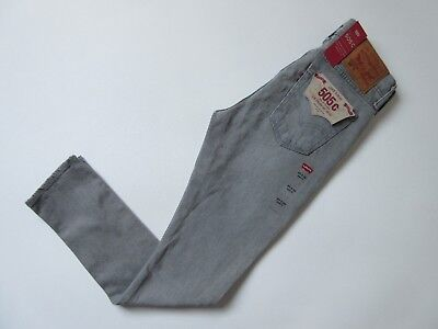 £18.15 • Buy NWT Levi's 505 C In Burn Rubber Gray Destroyed Straight Stretch Jeans 27 X 32
