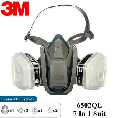 $ CDN51.96 • Buy 3M, 7 IN 1, 6503QL Half Face Reusable Respirator For Spraying & Painting, LARGE