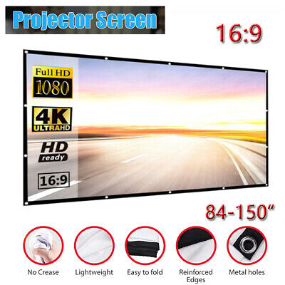 AU34.99 • Buy Foldable Projector Screen 16:9 Home Cinema Theater Outdoor 3D Projection AU