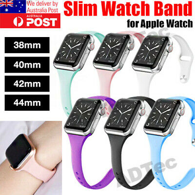 AU7.99 • Buy Apple Watch IWatch Series 6 5 4 3 2 1 Silicone Replacement Slim Strap Band 38 40