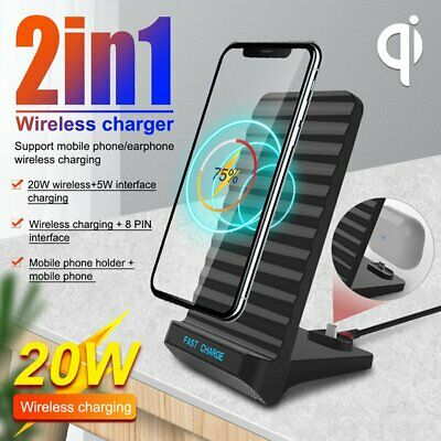 AU16.85 • Buy 20W Wireless Charger Fast Charging Dock Stand For Airpods IPhone Samsung ONY