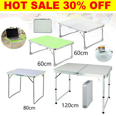 £28.83 • Buy Aluminum Portable Adjustable Folding Table Camping Outdoor Picnic Party BBQ New