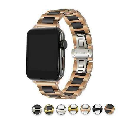 $ CDN92.26 • Buy Apple Watch Ceramic Band, Stainless Steel Link Watchband For IWatch Series 5 4 3