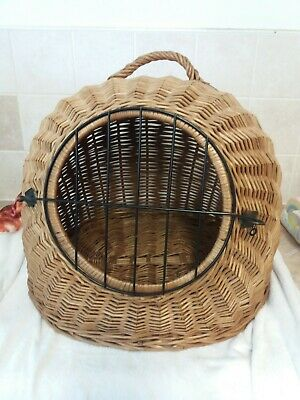 Wicker Pet Dog Cat Animal Basket Portable Transporter Carrier  • 42£