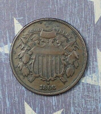 $ CDN73.74 • Buy 1866 2 Cent Piece Collector Coin For Your Collection Or Set.