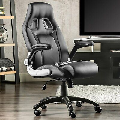 AU159.99 • Buy Executive Office Chair PU Leather Racer Computer Gaming Chairs Seating Black