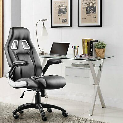 AU149.99 • Buy Executive Office Chair Computer Gaming Racer Seat PU Leather Mesh Chairs BLACK