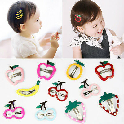 $ CDN1.49 • Buy 2Pcs Children Baby Girls Fruit Hairpin BB Side Clip Barrette Hair Accessories