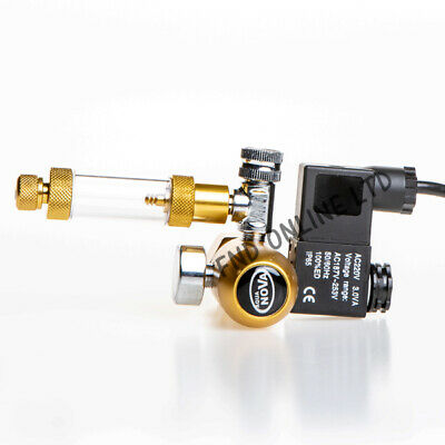 Aquarium Tank Gauge CO2 Pressure Regulator Bubble Counter Solenoid Valve DIN477 • 69£