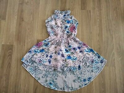 Girls Pink Floral TU High Low Summer Dress Age 3 Years  • 4£