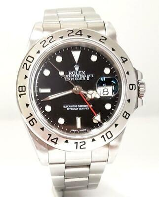 $ CDN9146.97 • Buy 40mm Rolex Explorer Ii 16750 Red Gmt Stainless Steel Automatic Watch