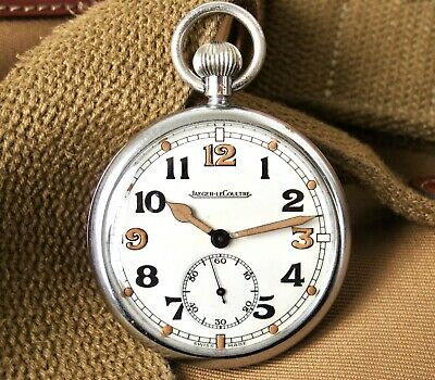 Jaeger-LeCoultre GSTP British Military Pocket Watch Vintage 1940s WW2 Army • 349£