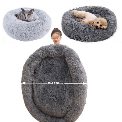 Dog Cat Pet Calming Beds Large Mat Comfy Puppy Washable Fluffy Cushion Plush Bed • 24.99£