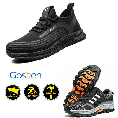 Mens S3 Safety Shoes Super Wide EEEE Fit Steel Toe Cap Work Boots STrainers • 17.54£