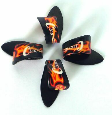 $ CDN6.91 • Buy Guitar Thumb Picks Flame Design Plectrums Pack Of 4 Size Medium/Large Clearwater