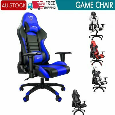AU159.99 • Buy Ergonomic Gaming Chair Racing Computer PC Seat Swivel Executive Office Recliner