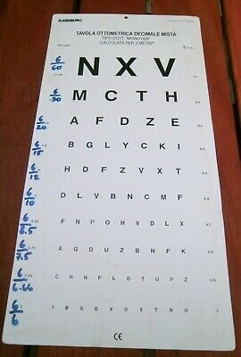 Large Used 10ft  Official Opticians Light Box Eye Test Chart Man Cave Poster  • 12.99£