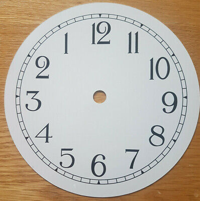 £8.95 • Buy NEW - 6 Inch Reverse Clock Dial Face - White - 152mm Arabic Numerals - DL40