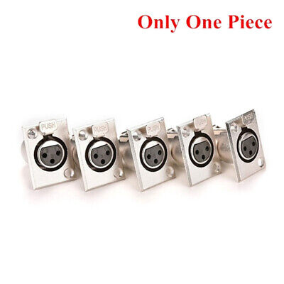Female Chassis Socket 3-Pin XLR Jack Panel Mount Connector Nickel Housing ME~PT • 3.71£