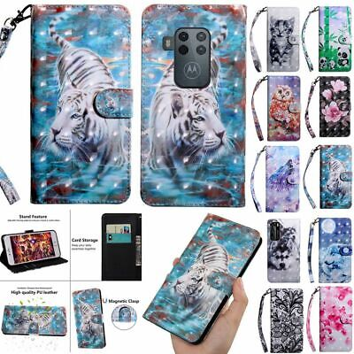 Pattern PU Leather Case For Motorola MOTO E6 Plus G7 Stand Wallet Magnetic Cover • 4.74£