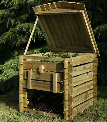 330 L Wooden Beehive Composter Garden Bin Waste Eco Friendly Compost Leaves Box • 89.90£