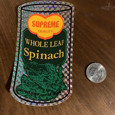 $ CDN19.13 • Buy SUPREME Spinach Whole Leaf Sticker Decal AUTHENTIC