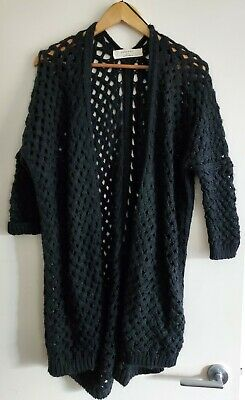 AU20 • Buy Zara Knit Black Chunky Jacket Size M